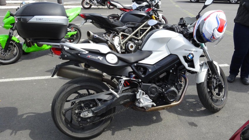 BMW F 800 R de Magda, motarde à Rennes