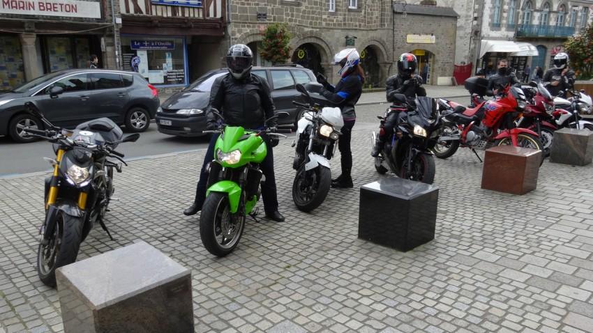 motard à Dol de Bretagne