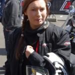 Laura, future motarde en Ducati