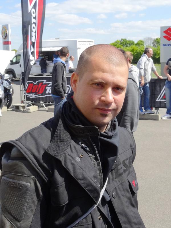 Mathieu, motard Rennais en Suzuki