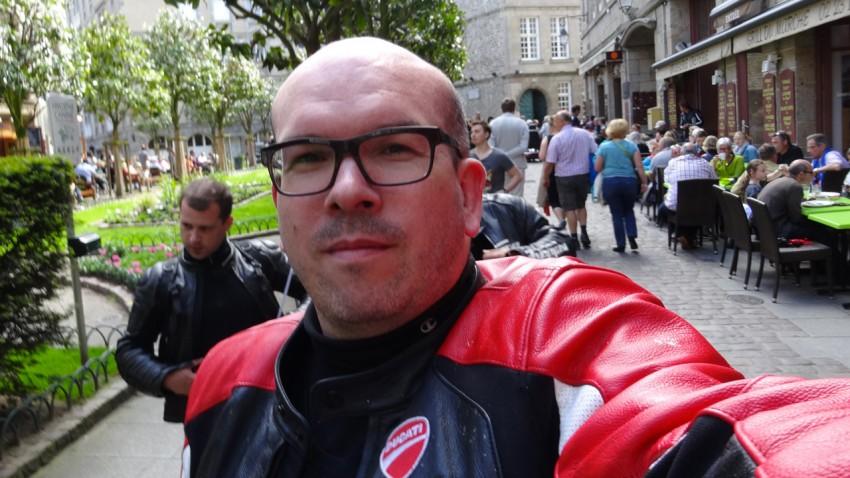 Selfie David Jazt à Saint-Malo