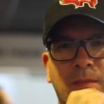 David Jazt et sa casquette Redwings (Baseball Club de Rennes)