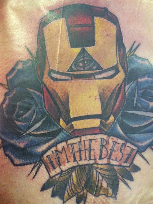 Tatouage super héros
