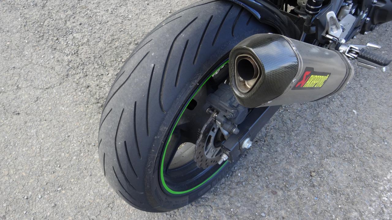 Pneu moto pilot power 3 sur Kawasaki Z750