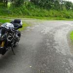 Pause moto à Changé près de Laval