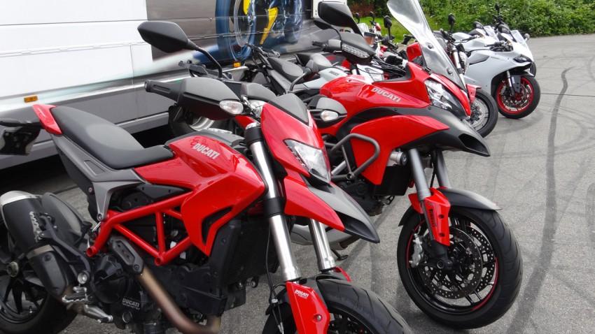 moto ducait à l'essai chez City Bike (Laval)