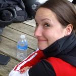 Lucie, umbrella girl chez Ducati à ses heures perdues