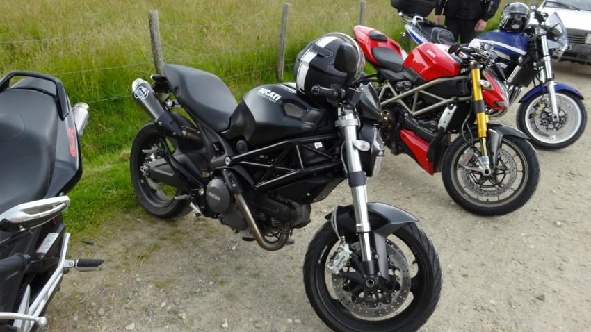 ligne de départ à moto
