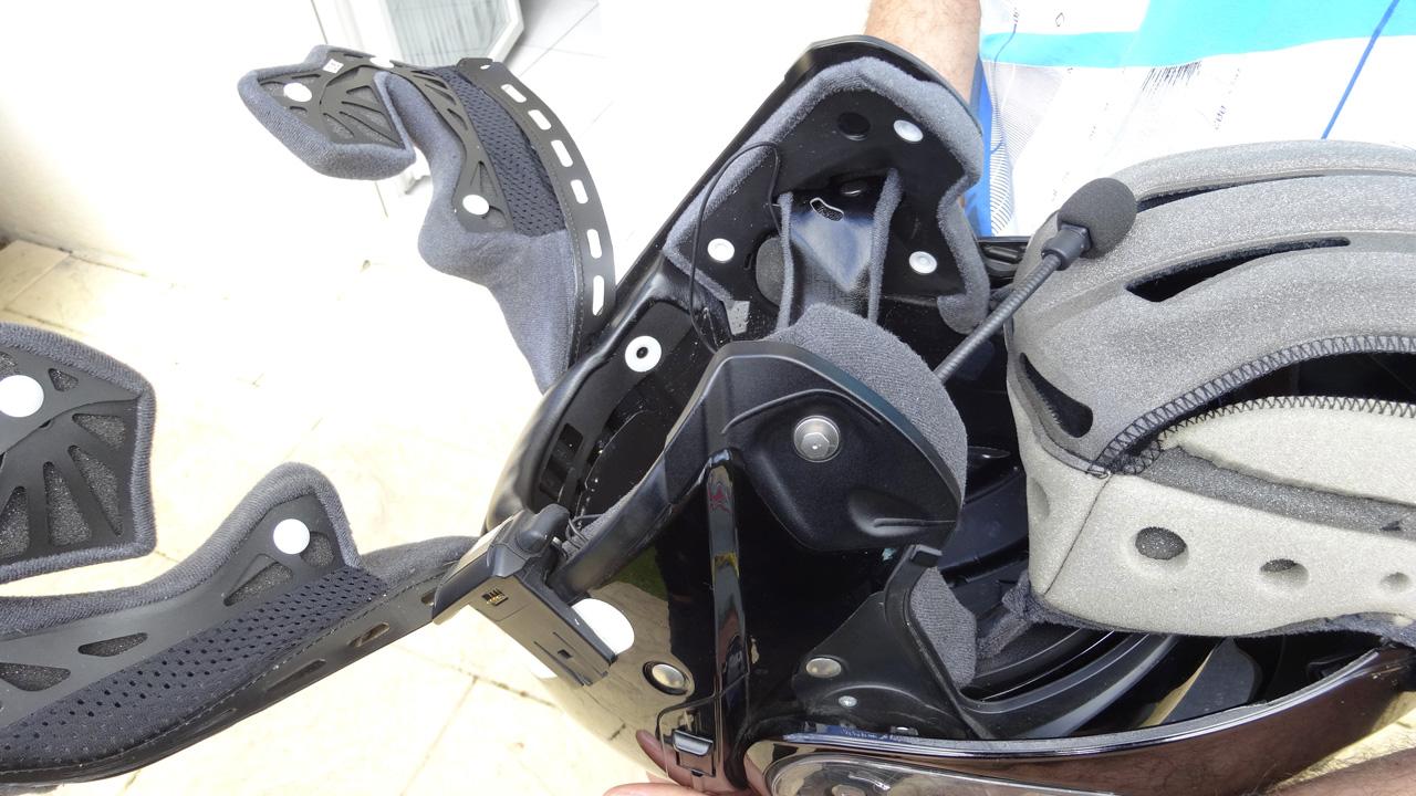 casque moto pour intercom