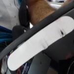 Le Q3 laisse des marque sur le casque moto