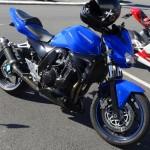 Kawasaki Z750 bleue 2004