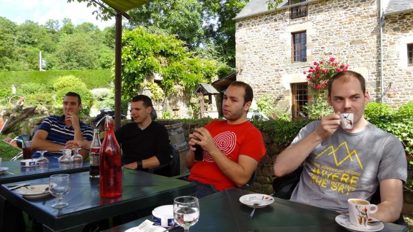 Pierre, David, Cédric et Guillaume