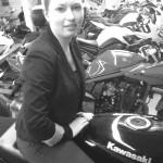 Laura, motarde Rennaise en Kawasaki