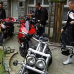 pause motarde à Saint-Malo intra muros