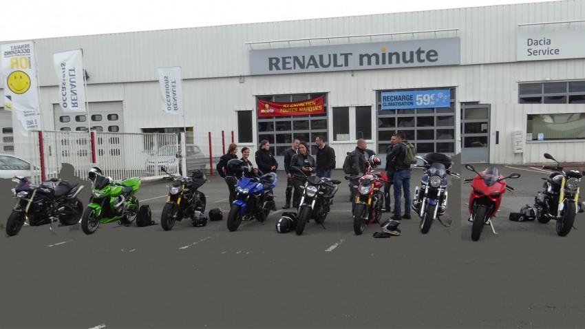rassemblement de motarde à Rennes et de motards
