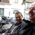 Juan et Didier, motard Rennais