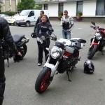 Debrief lors de l'essai moto Ducati à Laval