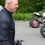 Didier, heureux sur sa Ducati
