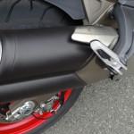 échappement sur le Ducati 821