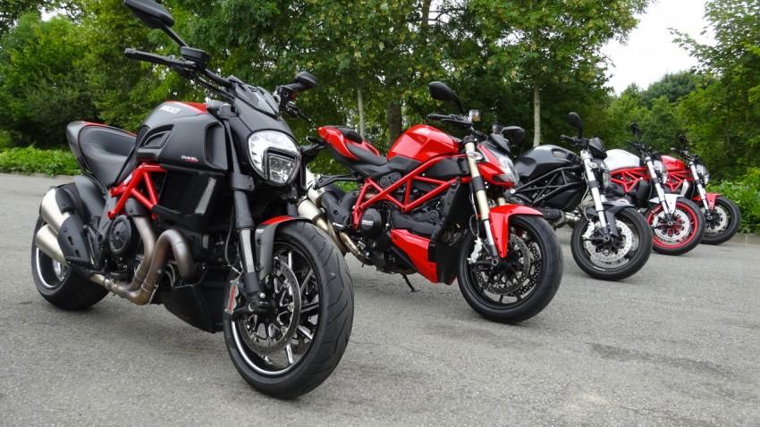 essai moto Ducati Laval