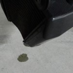 liquide de refroidissement qui coule du radiateur de ma moto
