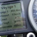 superduke 1290 R : voyage 1, tableau de bord