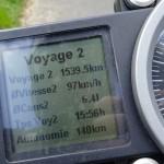 superduke 1290 R : voyage 2, tableau de bord