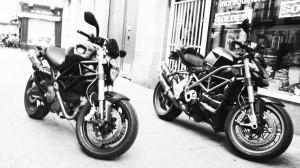 Ducati à Rennes, en centre ville, rue Vasselot
