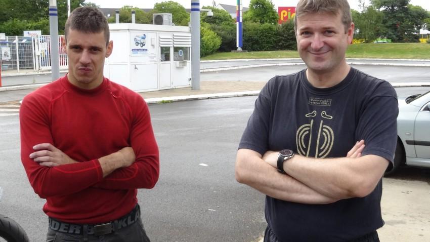 Amaury et Laurent, balade moto à Rennes pour Arzon