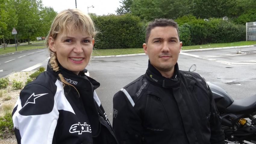 Katia et Arnaud en sortie moto