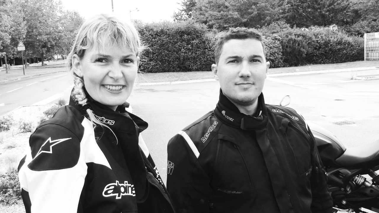 Arnaud et Katia, motard en Kawasaki