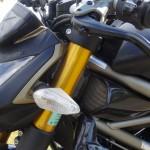 tête de fourche et écope sur le Streetfighter Ducati Performance