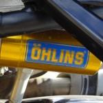 suspension ohlins à l'arrière du Streetfighter
