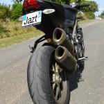 pneu de 190 à l'arrière du Streetfighter 1098