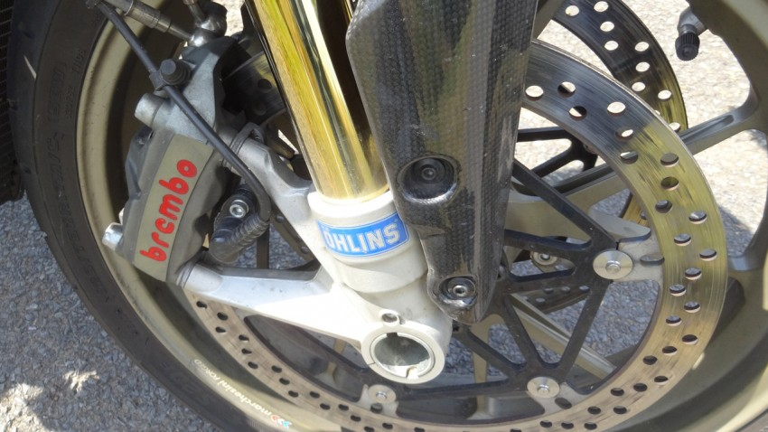 suspension ohlins sur le Streetfighter 1098 modèle S