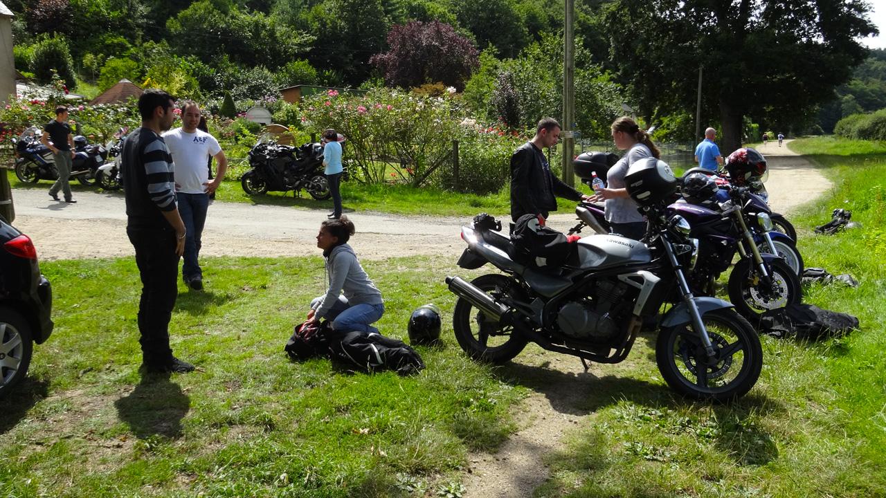balade moto le long de la vilaine