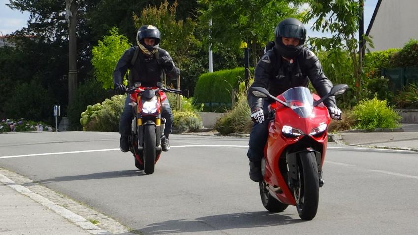 moto Ducati à Rennes : Panigale et Streetfighter dans les balades moto de David
