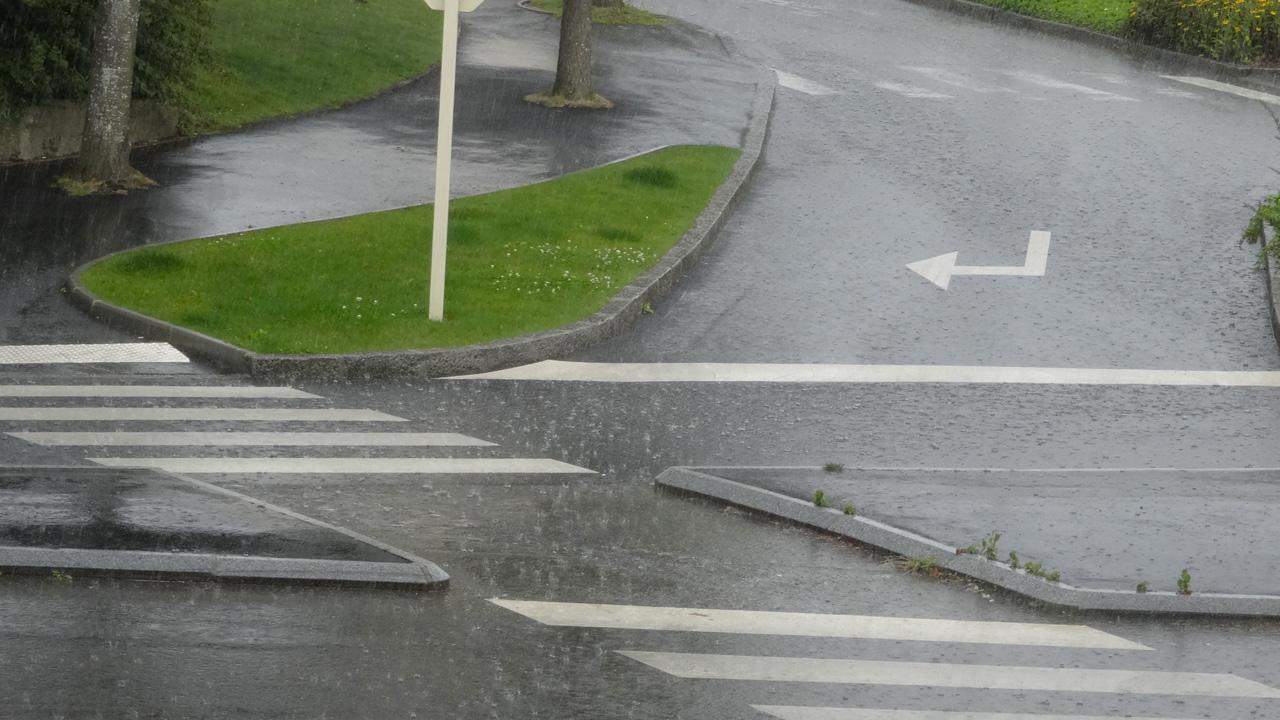 faire de la moto sous la pluie