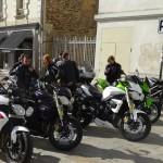 motard Rennais en centre ville à la Visitation