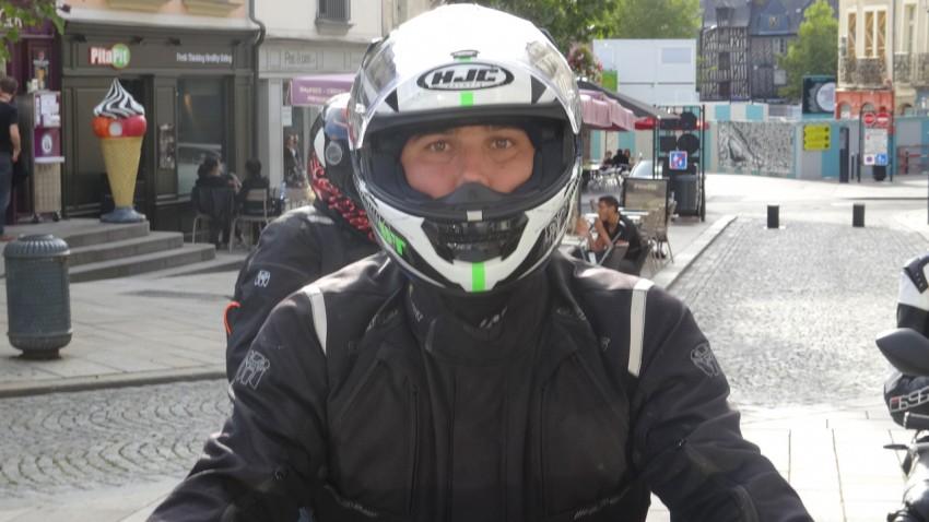Arnaud, motard Rennais