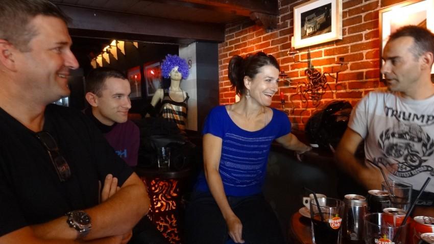 motards rennais au bar la Fonda de Dinard sur la croisette