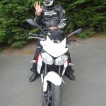 l'heure du départ : balade moto Rennes Triumph