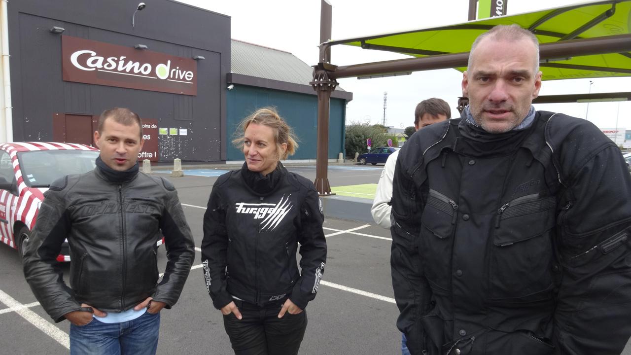 balade moto : arrivée à Rennes