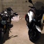 Ducati Streetfighter 1098 et Yamaha Xmax 400 de David Jazt
