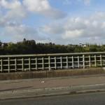 Dinan, vue depuis le pont au dessus du port de plaisance