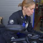 Agnès découvre le Ducati Diavel