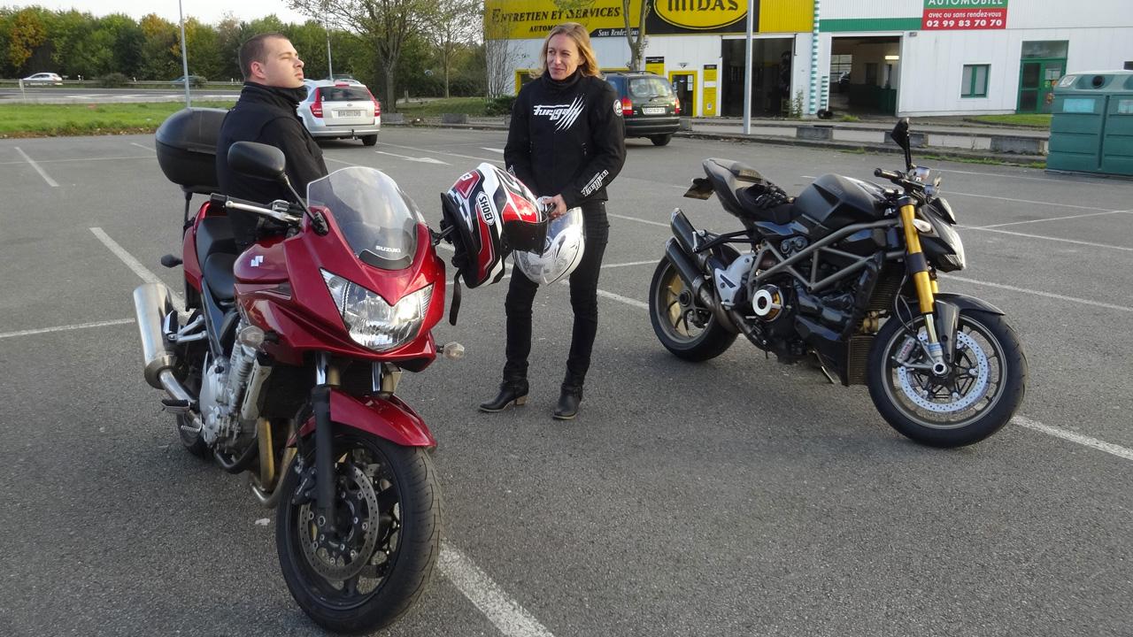équipe de motard à Rennes