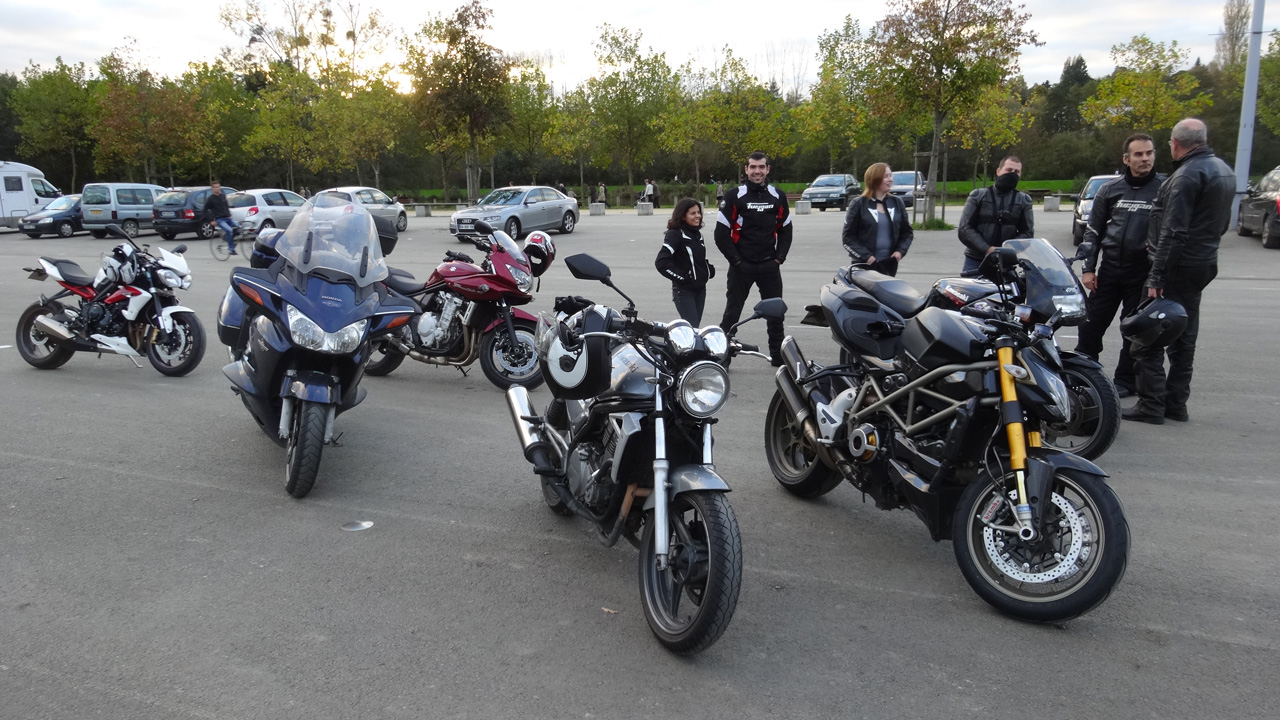 retour des motards Rennais à Betton