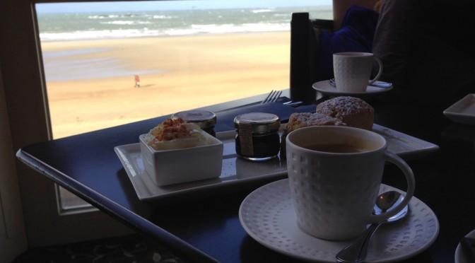 un café vue mer à Saint-Malo