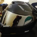 casque moto intégral avec visière iridium